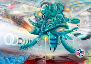 psychedelic visionary art painting