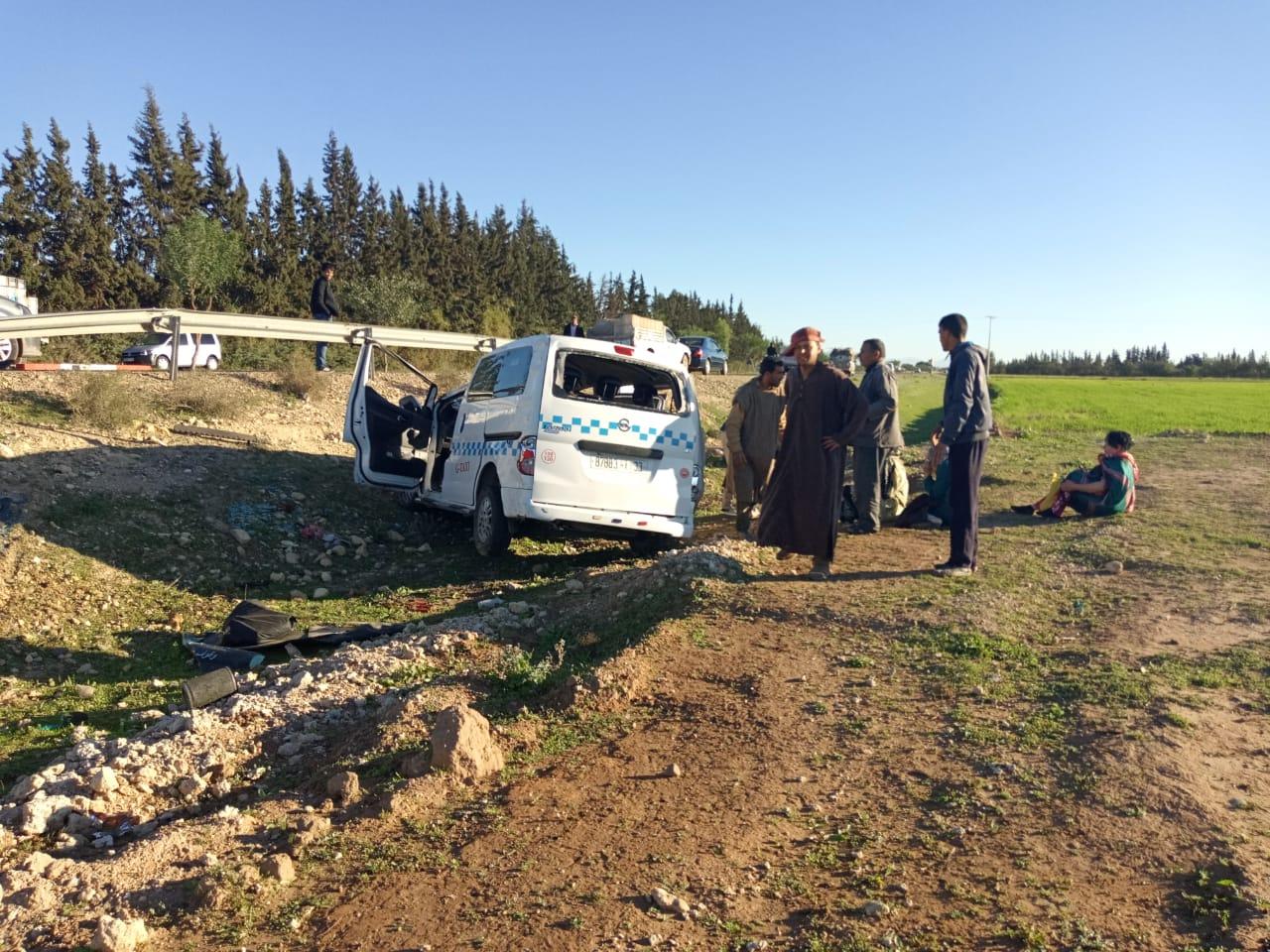 صور/ حادثة سير خطيرة بتارودانت كادت أن تنهي حياة 3 نساء !
