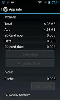 Fitur Move to SD card tidak aktif Aplikasi Android