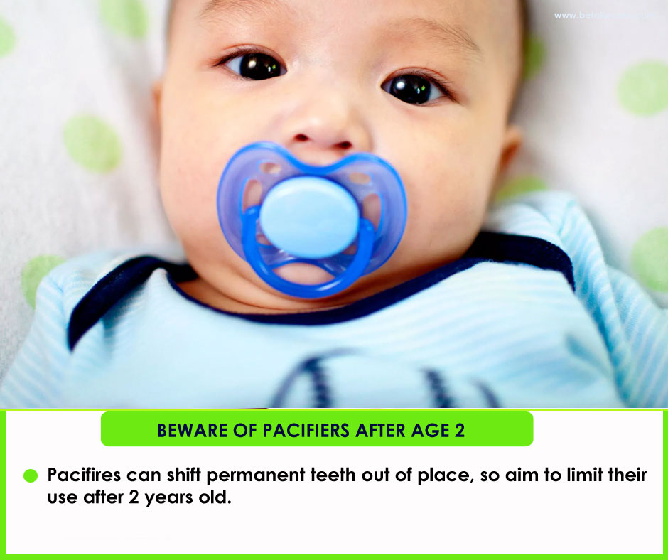 Beware of pacifiers after age 2