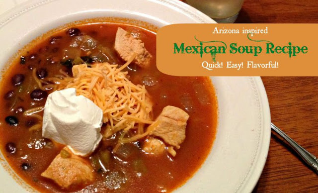Arizona Inspired Mexican Soup #soups #chilis