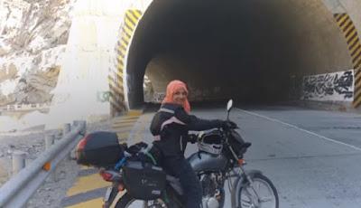 Yumma Warraich ingin berkeliling dunia dengan sepeda motor