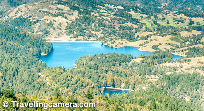 Above photograph shows Bon Temple lake and Lake Lagunitas. In the middle of green forest, these shiny blue lakes look amazing. These are opposite to the bay area. So while going up to the Mount Tamalpais, you see these lakes and as you hit the top, you see unimaginable views of bay, San Francisco city, Bay bridge, Golden Gate bridge, Aukland region, Pacifica beach and all.