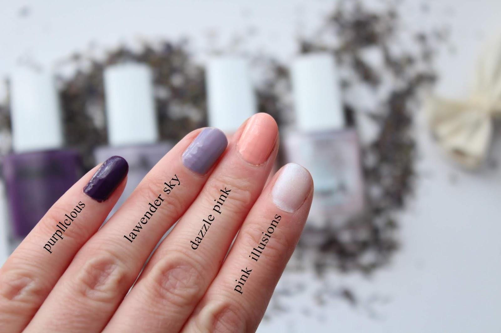 lakiery do paznokci mark, modne kolory, fiolety na paznokciach