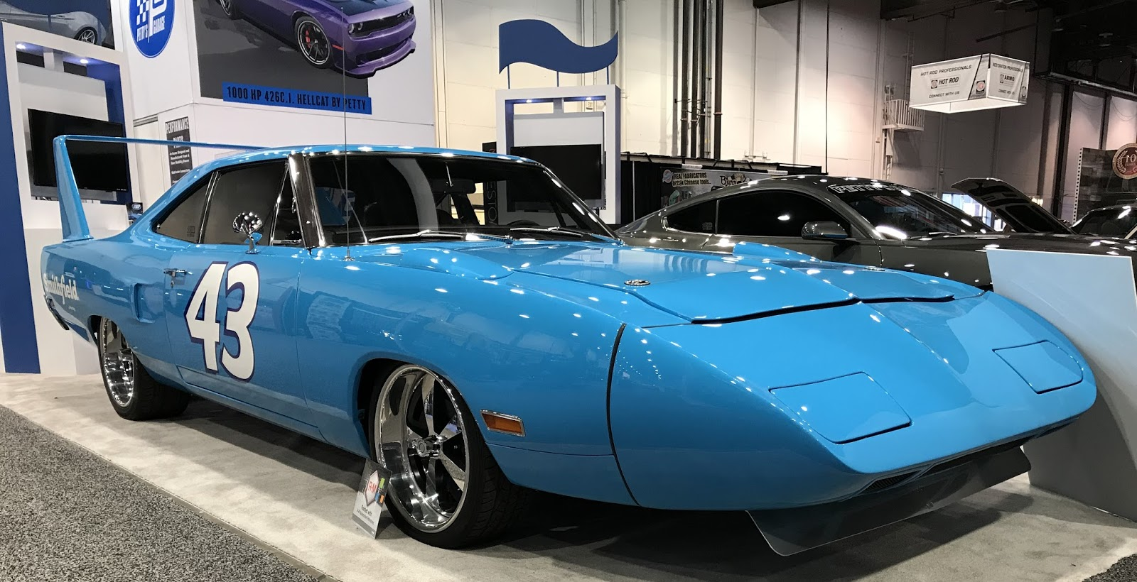 972ecc2a I thought I'd posted about it, but it seems I haven't yet, so, here's the  Petty Superbird tribute by Smithfield Foods give away car from 2017 SEMA  that Mike ...