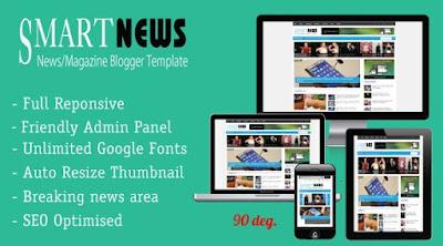 Smart News Responsive Magazine News Blogger Templates