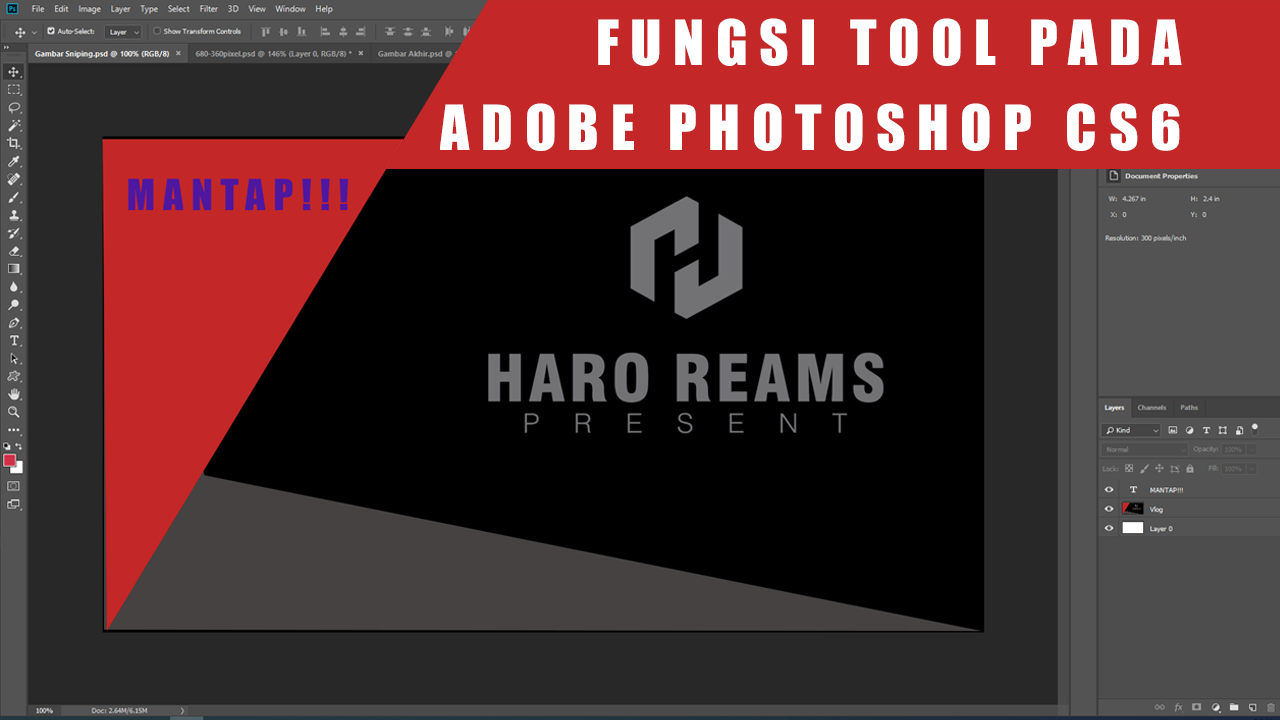 Fungsi Tool Pada Adobe Photoshop CS6