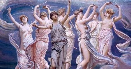 """Αποτέλεσμα εικόνας για """"Πλειάδες οι εφτά κόρες του Τιτάνα Άτλαντα"""""""