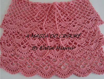 Falda tejida a Crochet