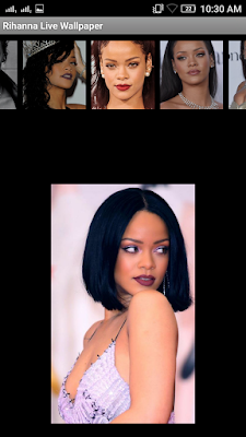 Rihanna 3D live Wallpaper For Android Mobile Phone