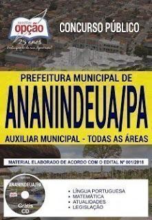 Baixar Apostila Prefeitura de Ananindeua 2019 PDF Download