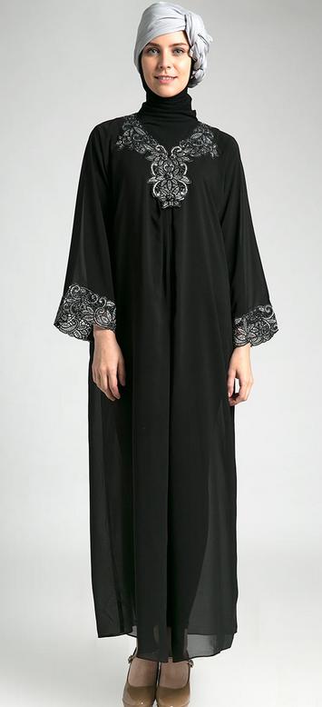 Contoh Baju Muslim Kaftan India