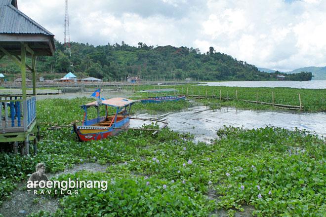 perahu bunga eceng gondok sumaru endo remboken minahasa sulawesi utara