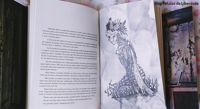 livro, Nihil, Carolina-Mancini, Estronho, trecho, ilustracao