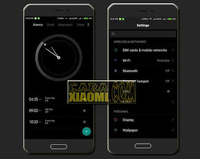 Theme MIUI MI Note 2 Dark Version For Xiaomi