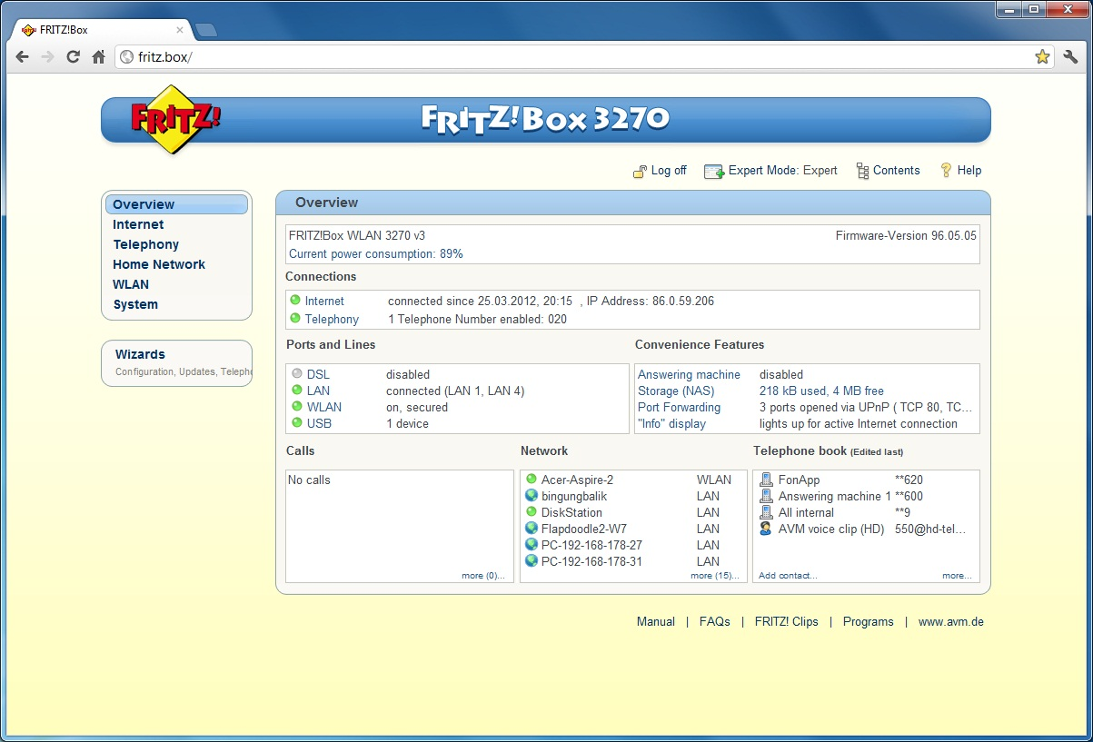 3270 Fritzbox