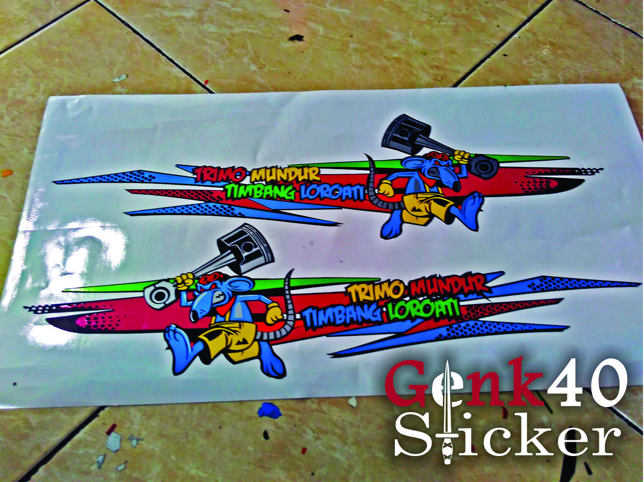 CUTTING STICKER HONDA BEAT FI THAILOOK RAT MASCOT ~ Abyasa Stickers ...
