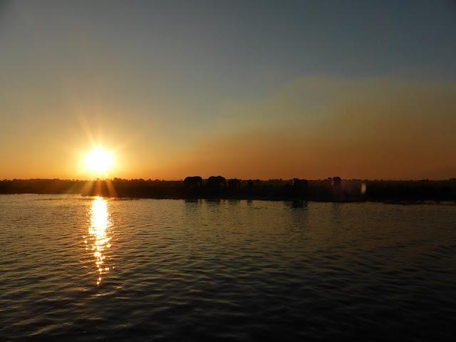 Puesta de sol en Chobe