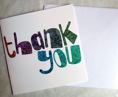 Thank You by Seb - greetings card