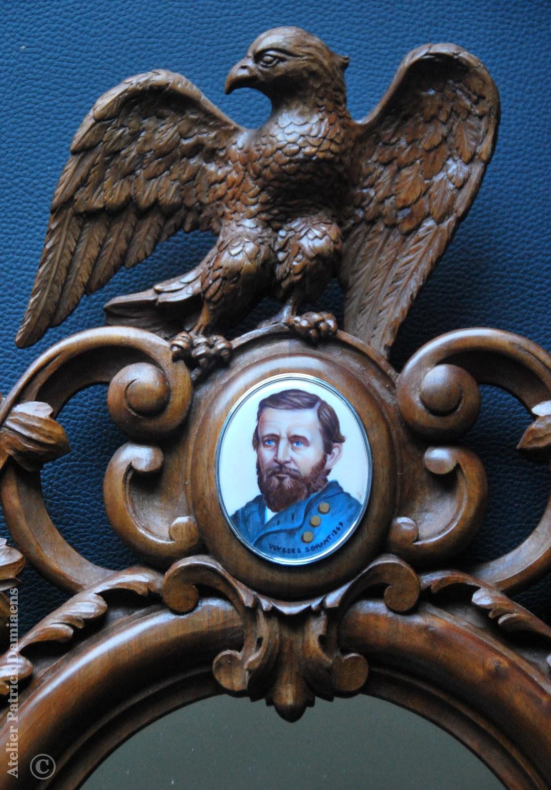 Sculpture ornementale patrick damiaens r alisation d 39 un miroir ovale en bois miroir sculpt - Miroir ovale sur pied ...