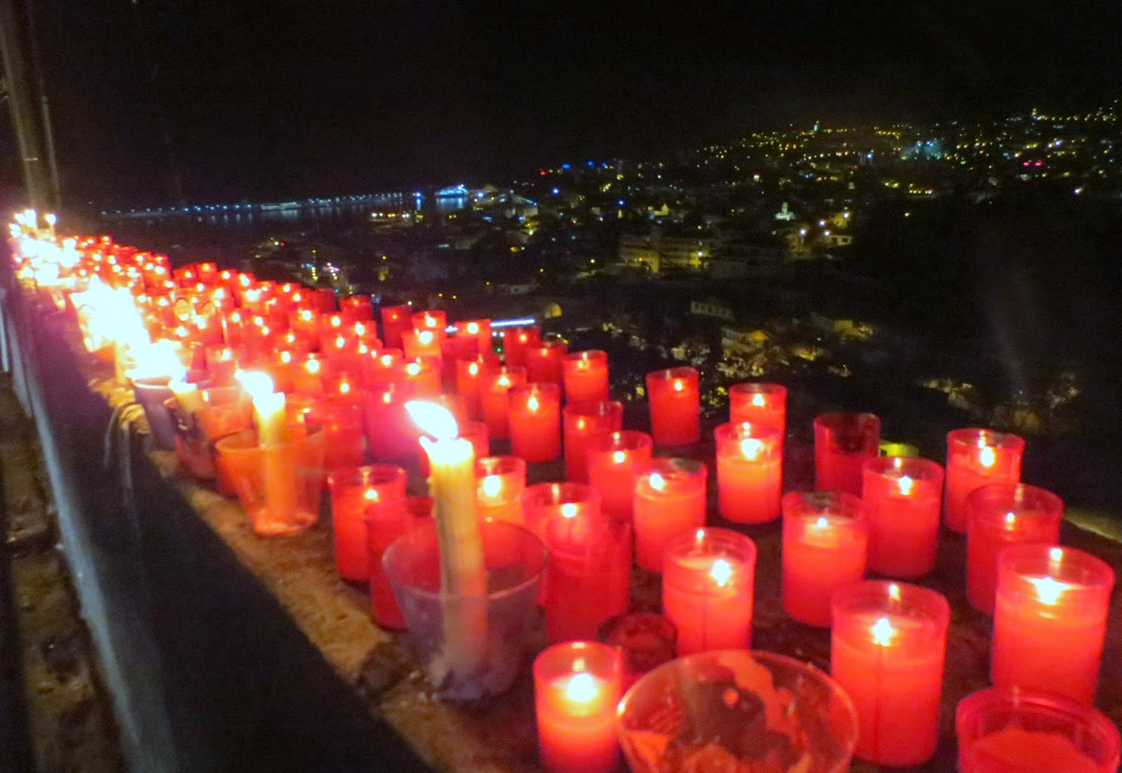 candles yesterday by the procession of Our Lady of Fátima, in Funchal