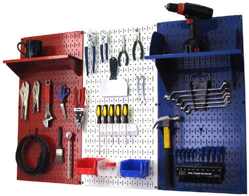 Patriot Pegboard Organizer Metal Pegboard Kit
