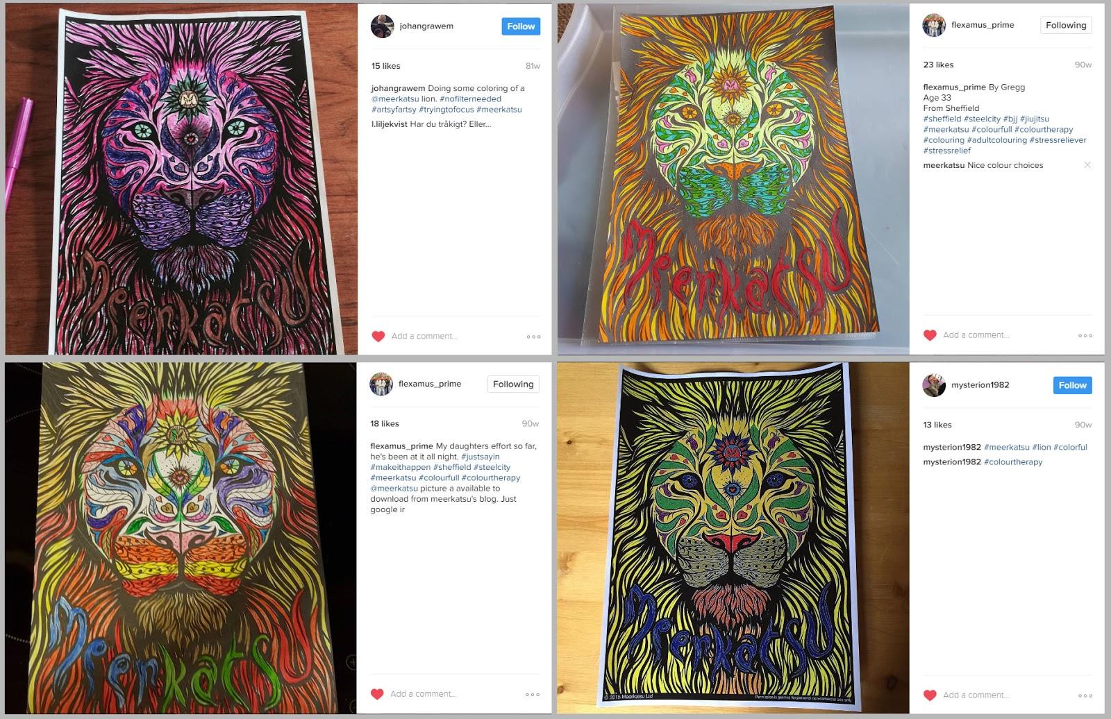 My War Lion Colouring Sheet