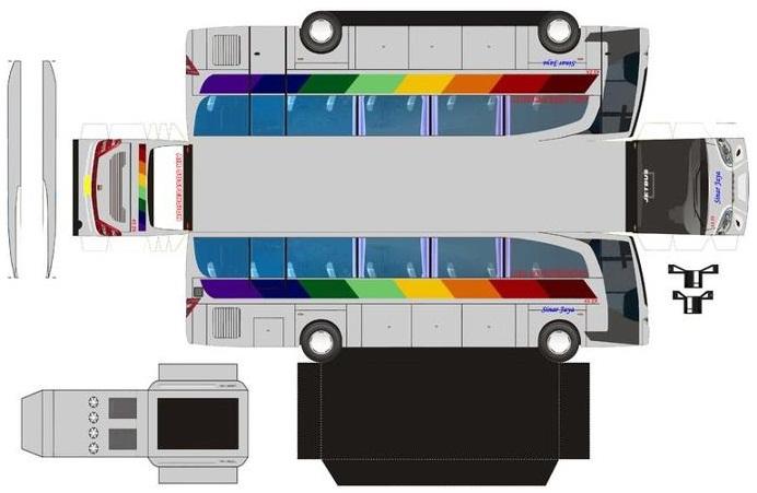 Cara Pembuatan Miniatur Bus Dari Kardus | IPINtekno