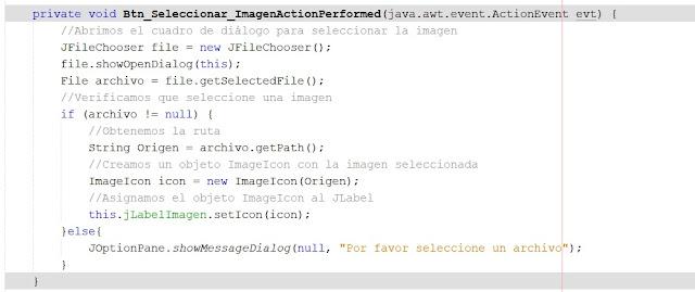 Seleccionar una imagen y mostrarla en JLabel Java