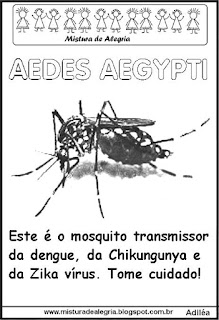 Desenho do mosquito aedes aegypti