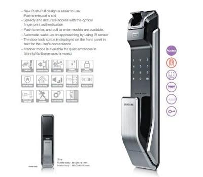 Khóa cửa điện tử có thiết kế an toàn