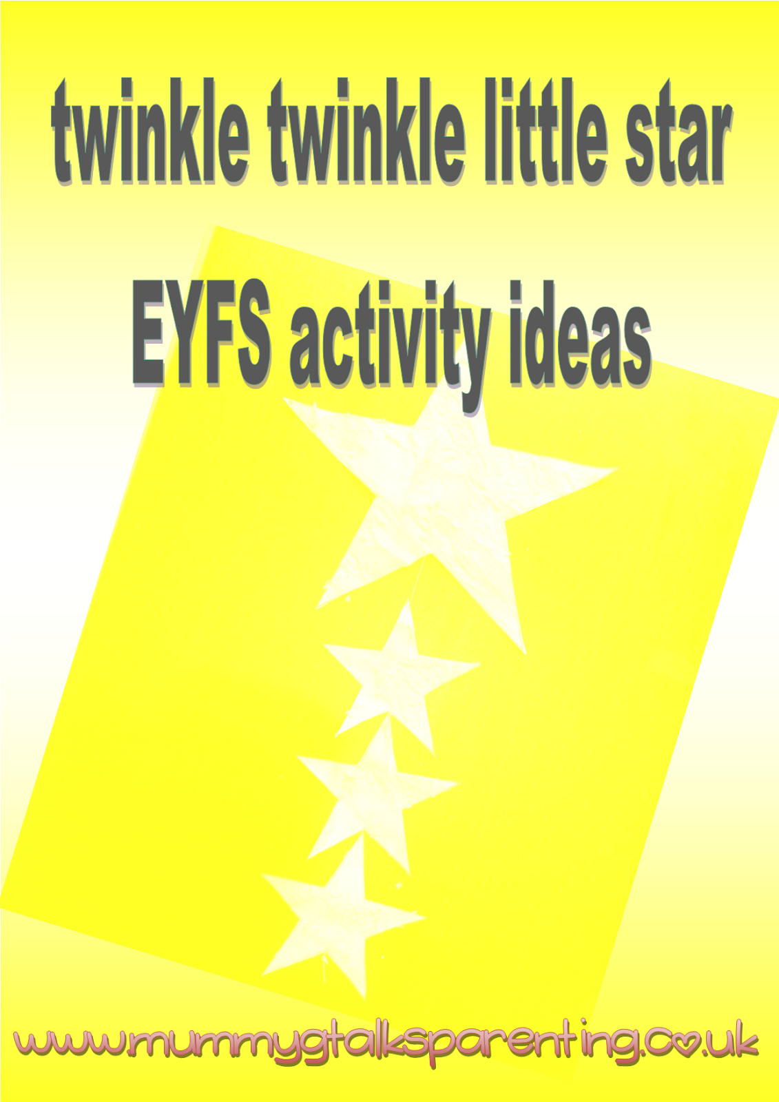 Twinkle Twinkle Little Star Eyfs Activity Ideas Mummy G