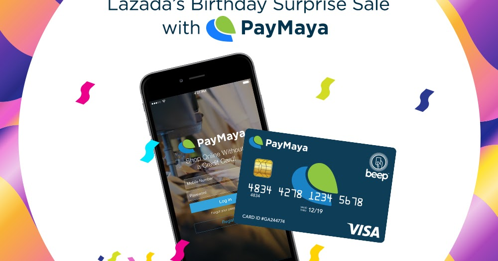 Paymaya: Get Extra 10% Off Lazada's Birthday Surprise Sale With