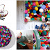Cute colorful DIY Pom-Pom Crafts and Ideas