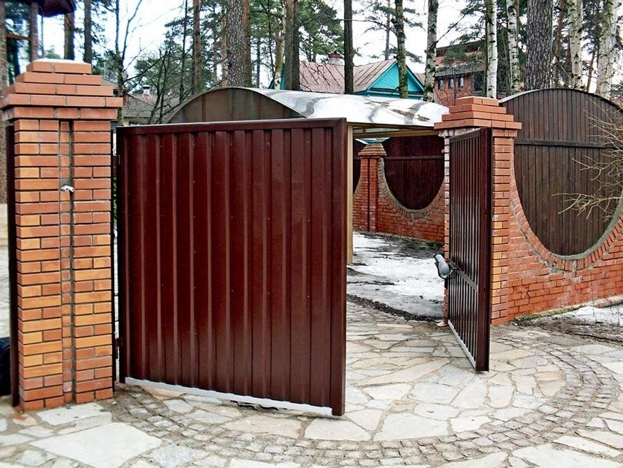 Ворота утепленные распашные