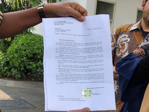 Ini Isi Surat Mundur Idrus Marham ke Jokowi