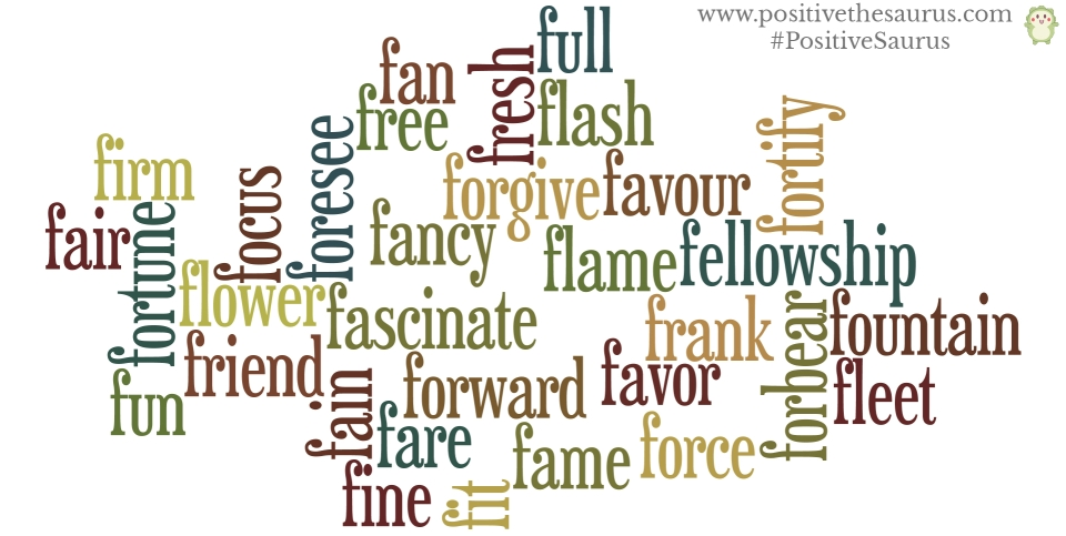 positive verbs that start with f