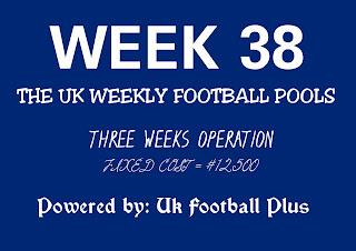 Wk38 UK football pools draws on coupon by ukfootballplus