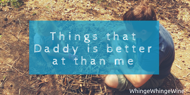 Why do my kids prefer their dad? Things that daddy is better at than me: Playing, lego, leaving the house...