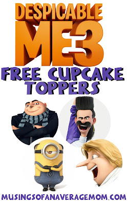 despicable me 3 cupcake toppers