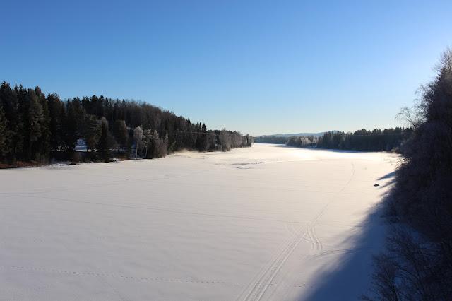 #snö #frost #vinter #sol #himmel #hälsingland #ljusnan