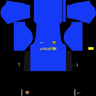 Barcelona 2009 kits - Dream League Soccer - FTS 15 DLS 2016