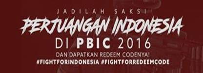 Update Hadiah Redeem Code PBIC 2016 Thailand Live Streaming