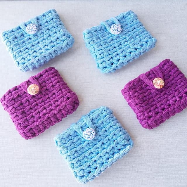 monedero tarjetero de crochet