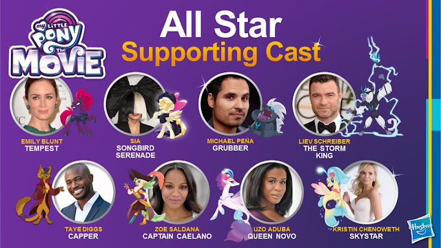My Little Pony Movie Art Cast
