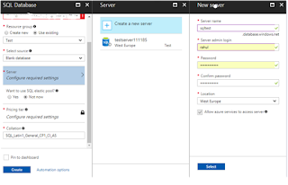 Configuration and server settings for Azure SQL Database using Azure Portal