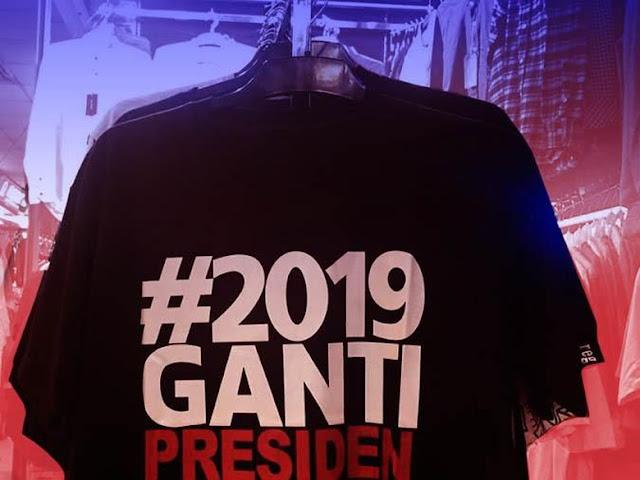 Slogan #2019GantiPresiden Diganti Menjadi #2019PrabowoPresiden