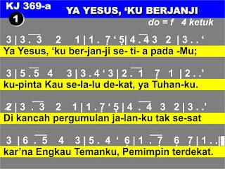 Lirik dan Not Kidung Jemaat 369a Ya Yesus, 'Ku Berjanji