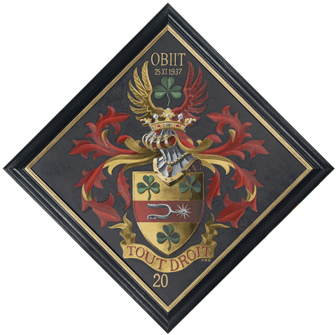 Huile sur bois, 80 x 80 cm, Dumont de Chassart. Par Olivier Nolet de Brauwere.