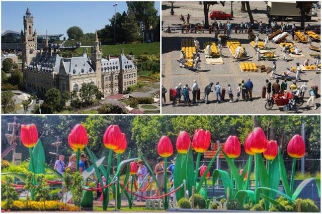 51 Palacio Internacional de la Paz de La Haya – 9 Mercado del Queso de Alkmaar  - Tulipanes en el parque Madurodam en La Haya Den Haag